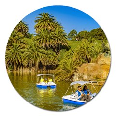Parque Rodo Park, Montevideo, Uruguay Magnet 5  (round) by dflcprintsclothing