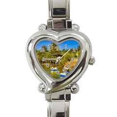 Parque Rodo Park, Montevideo, Uruguay Heart Italian Charm Watch by dflcprintsclothing