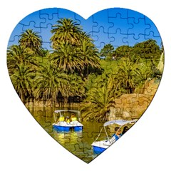 Parque Rodo Park, Montevideo, Uruguay Jigsaw Puzzle (heart) by dflcprintsclothing