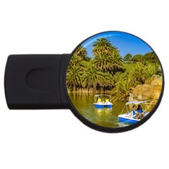 Parque Rodo Park, Montevideo, Uruguay Usb Flash Drive Round (4 Gb) by dflcprintsclothing