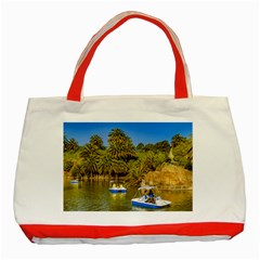 Parque Rodo Park, Montevideo, Uruguay Classic Tote Bag (red) by dflcprintsclothing