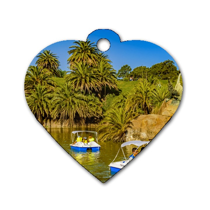 Parque Rodo Park, Montevideo, Uruguay Dog Tag Heart (Two Sides)