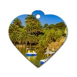 Parque Rodo Park, Montevideo, Uruguay Dog Tag Heart (Two Sides) Back