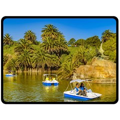 Parque Rodo Park, Montevideo, Uruguay Fleece Blanket (large)  by dflcprintsclothing