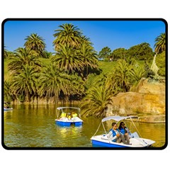Parque Rodo Park, Montevideo, Uruguay Fleece Blanket (medium)  by dflcprintsclothing