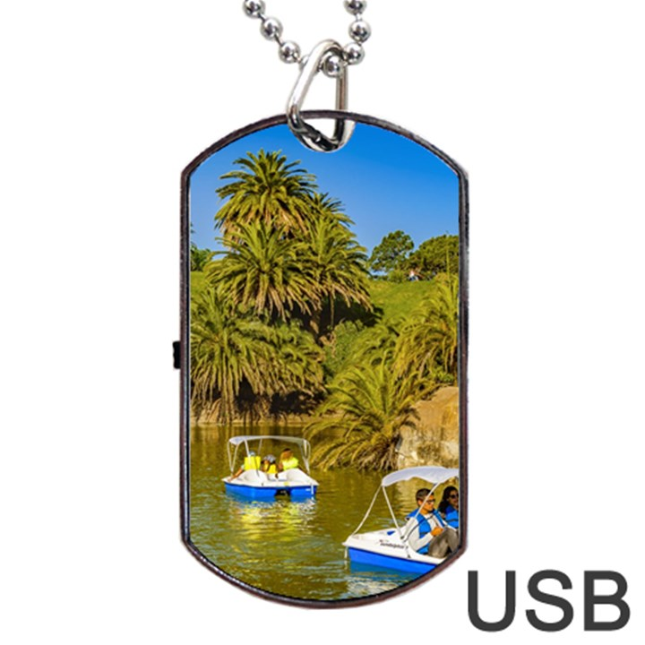 Parque Rodo Park, Montevideo, Uruguay Dog Tag USB Flash (One Side)