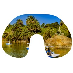 Parque Rodo Park, Montevideo, Uruguay Travel Neck Pillow by dflcprintsclothing
