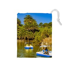 Parque Rodo Park, Montevideo, Uruguay Drawstring Pouch (medium) by dflcprintsclothing