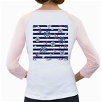 Seamless-marine-pattern Girly Raglan Back