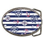 Seamless-marine-pattern Belt Buckles Front