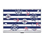 Seamless-marine-pattern Business Card Holder Front