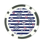 Seamless-marine-pattern Poker Chip Card Guard (10 pack) Front