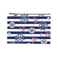 Seamless-marine-pattern Cosmetic Bag (large)