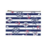 Seamless-marine-pattern Cosmetic Bag (Large) Front