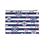 Seamless-marine-pattern Cosmetic Bag (Large) Back