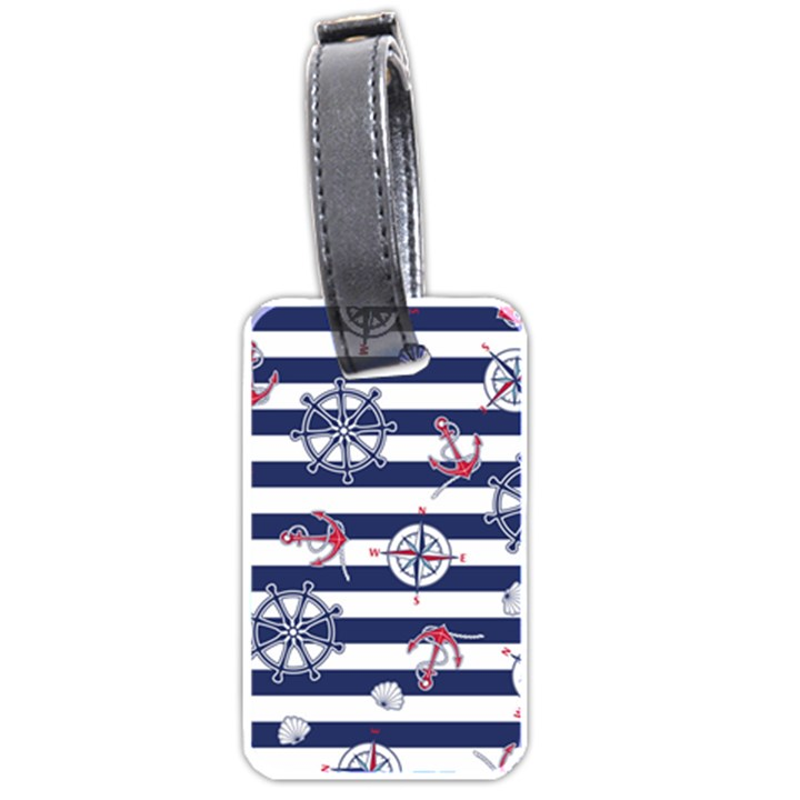 Seamless-marine-pattern Luggage Tag (one side)
