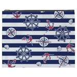 Seamless-marine-pattern Cosmetic Bag (XXXL) Front