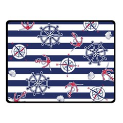 Seamless-marine-pattern Double Sided Fleece Blanket (small)