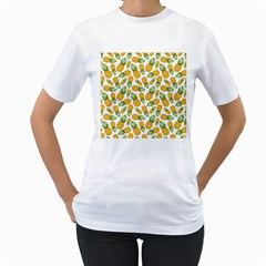 Pineapples Women s T-shirt (white) (two Sided) by goljakoff