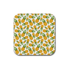 Pineapples Rubber Coaster (square)  by goljakoff