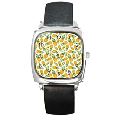 Pineapples Square Metal Watch by goljakoff