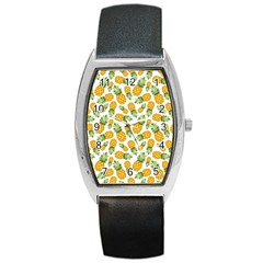 Pineapples Barrel Style Metal Watch by goljakoff