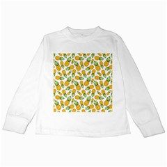 Pineapples Kids Long Sleeve T-shirts by goljakoff