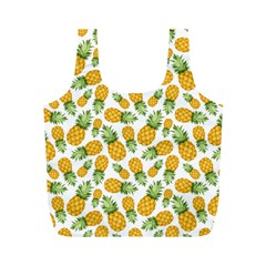 Pineapples Full Print Recycle Bag (m) by goljakoff