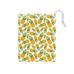 Pineapples Drawstring Pouch (medium) by goljakoff