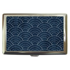 Blue Sashiko Pattern Cigarette Money Case by goljakoff