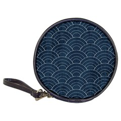 Blue Sashiko Pattern Classic 20-cd Wallets by goljakoff