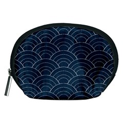 Blue Sashiko Pattern Accessory Pouch (medium) by goljakoff
