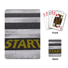 Asphalt Begin Bright Expectation Playing Cards Single Design (rectangle)
