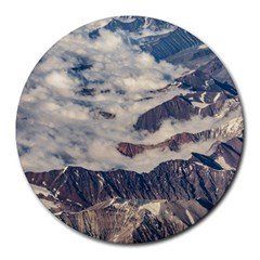 Andes Mountains Aerial View, Chile Round Mousepads