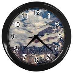 Andes Mountains Aerial View, Chile Wall Clock (black)