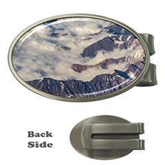 Andes Mountains Aerial View, Chile Money Clips (oval)