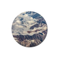 Andes Mountains Aerial View, Chile Magnet 3  (round)