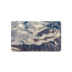 Andes Mountains Aerial View, Chile Magnet (name Card)