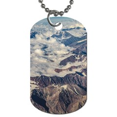 Andes Mountains Aerial View, Chile Dog Tag (one Side)