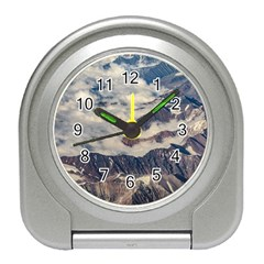 Andes Mountains Aerial View, Chile Travel Alarm Clock