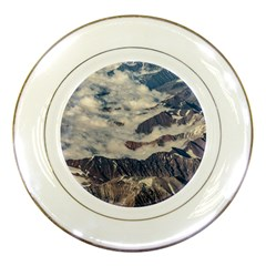 Andes Mountains Aerial View, Chile Porcelain Plates