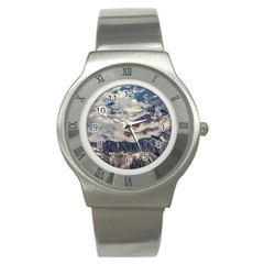 Andes Mountains Aerial View, Chile Stainless Steel Watch