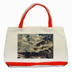 Andes Mountains Aerial View, Chile Classic Tote Bag (red)