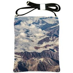 Andes Mountains Aerial View, Chile Shoulder Sling Bag