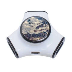 Andes Mountains Aerial View, Chile 3-port Usb Hub