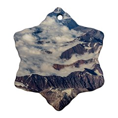 Andes Mountains Aerial View, Chile Snowflake Ornament (two Sides)