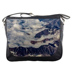 Andes Mountains Aerial View, Chile Messenger Bag