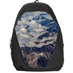 Andes Mountains Aerial View, Chile Backpack Bag