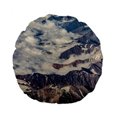 Andes Mountains Aerial View, Chile Standard 15  Premium Flano Round Cushions
