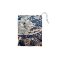 Andes Mountains Aerial View, Chile Drawstring Pouch (xs)